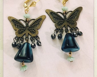 Fly fly butterfly - adorable chandelier earrings