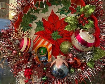 Toy Soldier vintage Christmas wreath decoration