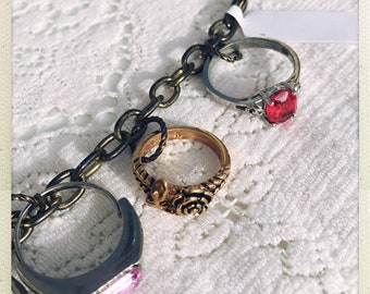 Silver and gold, silver and gold Ev'ryone wishes for silver and gold vintage ring charm bracelet