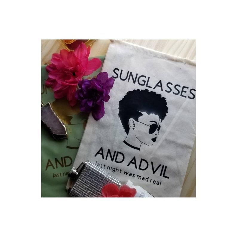 Hangover Kit Bag Individual   Bachelorette Favor Bags Wedding Welcome  Recovery Party Favor sunglasses and advil Bachelor Bridesmaid Bridal