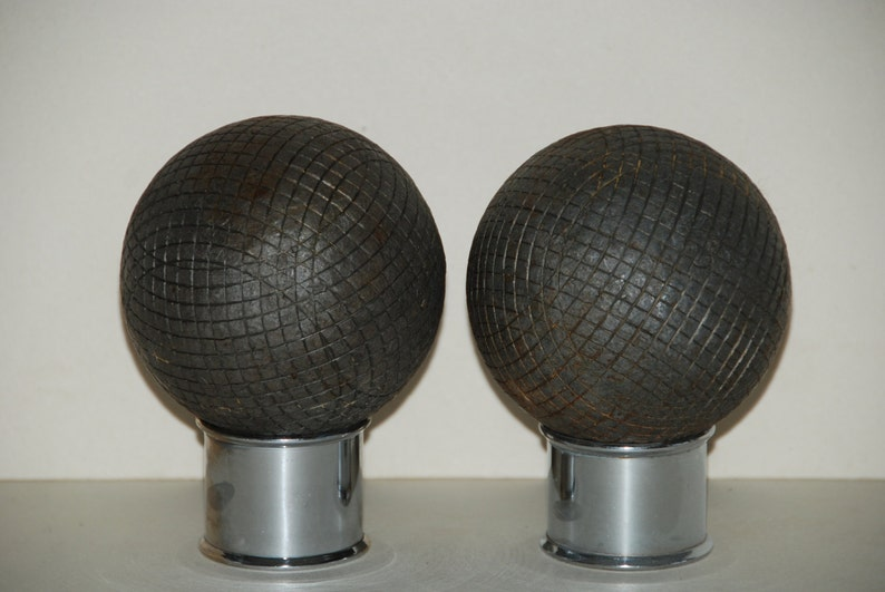 Boules are in heavy metal Playing quality. 2 vintage French Boules Lyonnaises These are the bigger version of p\u00e9tanque