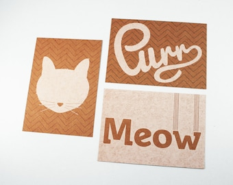 Cat Purr Meow posters A3