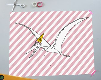 Pteranodon <3 ice cream poster
