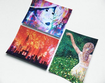 Abstract Painting Postcards