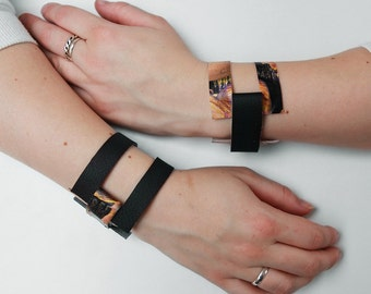 Minimalistic fabric cuff bracelet