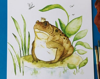 Lord Soggy of the Boggy (Frog or Toad 8x10 art print)
