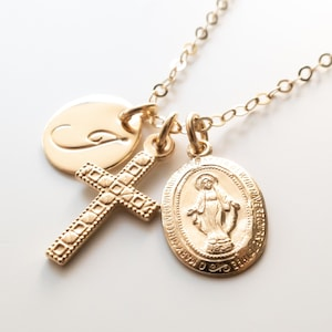 Medallion pendant Pro-life gift Wedding catholic gift Blessed Virgin Consecration Virgin Mary gift Baptism Confirmation gift keepsake