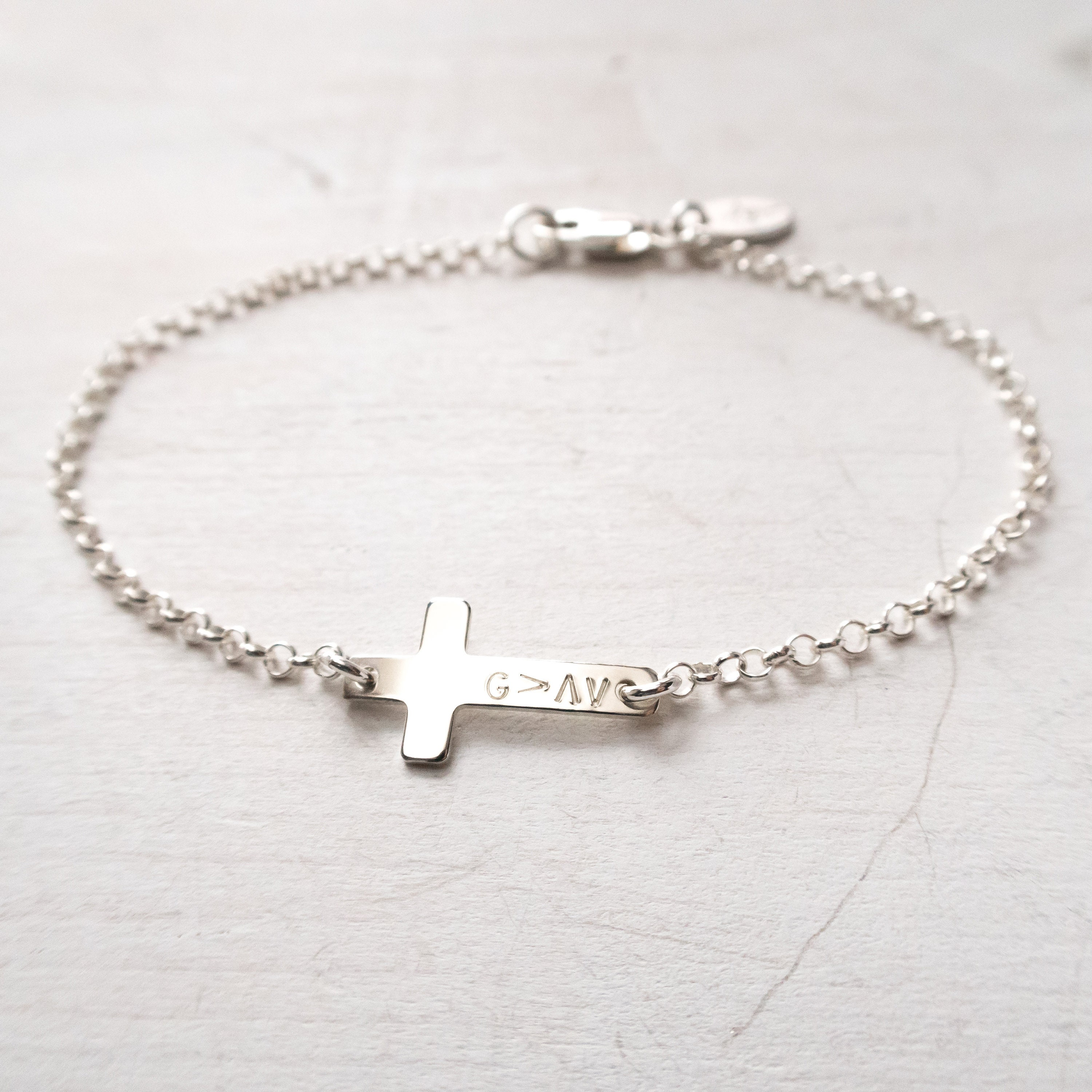 God Is Greater Than The Highs And Lows Bracelet Sideways Cross