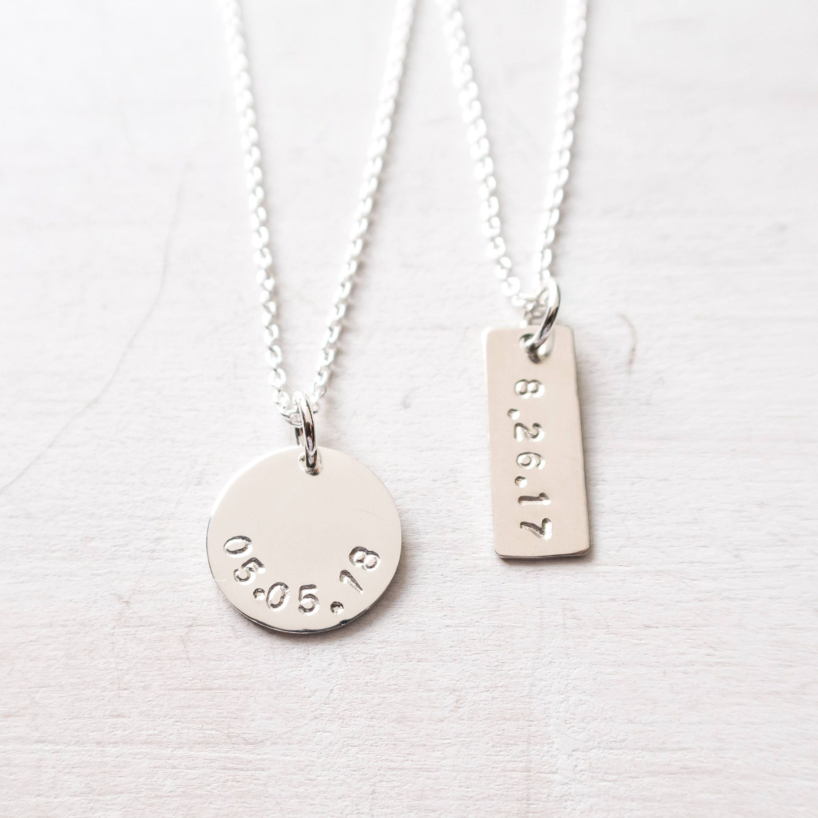 Date Necklace Special Date Wedding Date Anniversary Gift For Wife