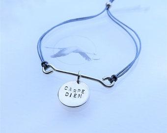 "SB43* ""Carpe Diem"" Bracelet - Sterling Silver 925, handmade , unique design"