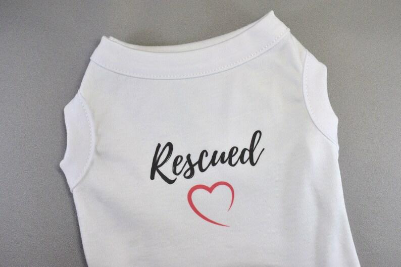 Rescued Heart Pet Shirt L XXL S XS Tank Top Dog Shirt M XL