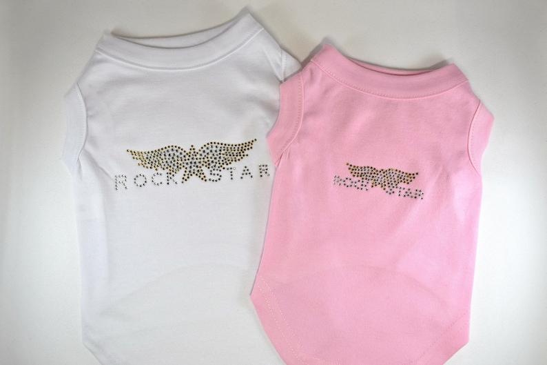 Rock Star Rhinestone Pet Shirt Dog Shirt Tank Top