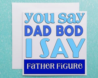 Greeting Card Father/'s Day Funny Get your Dad bod ready V2