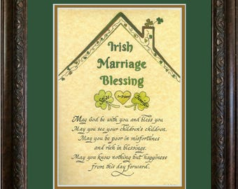 Irish Blessing Wedding Marriage Prayer for Bride and Groom