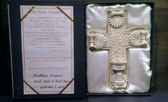 Baptism personalized keepsake cross for children, teens and adults