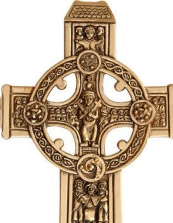"James Brennan® True Celtic 8"" Cross - Bronze Wall Cross"