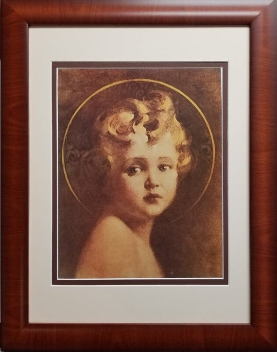 "Chambers art Framed and matted Child Jesus Light of the world print Charles Bosseron Chambers Framed measures 12"" X16"""