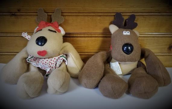 Rodney and Rhonda Reindeer brand new Vintage plush Hallmark toy