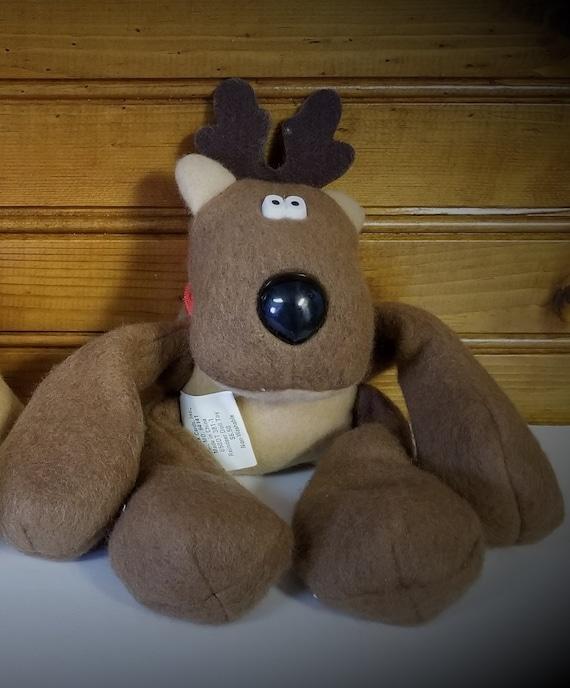 Rodney Reindeer brand new Vintage plush Hallmark toy