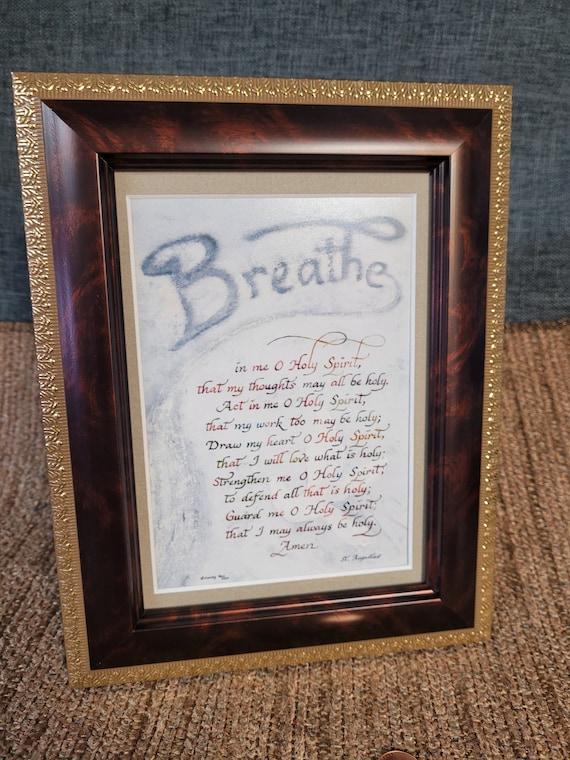 Saint Augustine prayer Breathe in me O Holy Spirit verse Confirmation Gift Augustine prayer to Holy Spirit