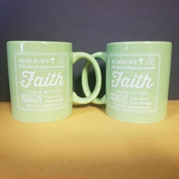 Faith coffee mug Boxed Scripture Ceramic Inspirational Coffee and Tea Mug