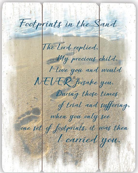 Footprints Pallet Sign