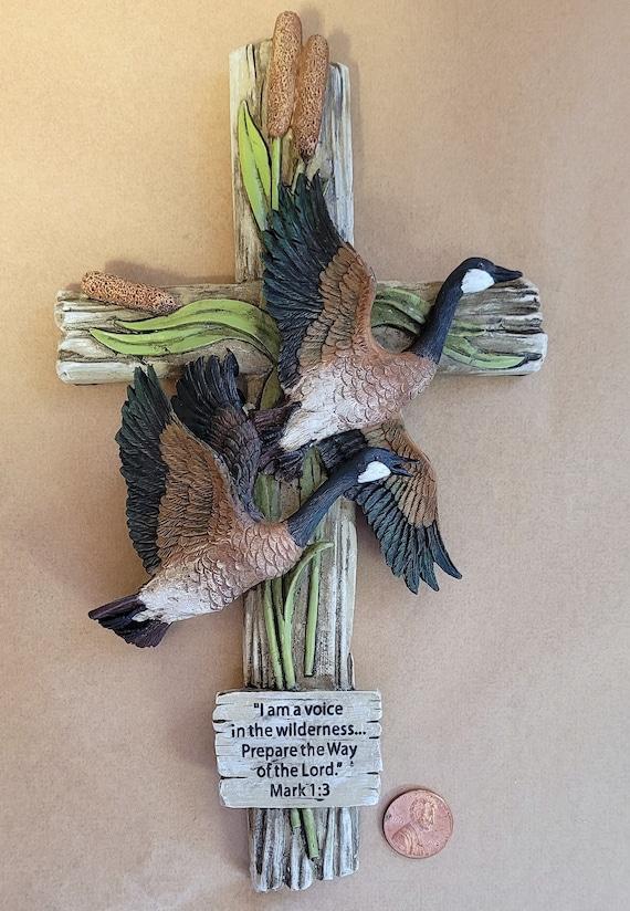 Canadian Geese Wall Cross Mark 1:3