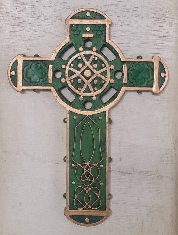 Celtic Irish Cross wall for St. Patrick's Day, House Warming and gift giving
