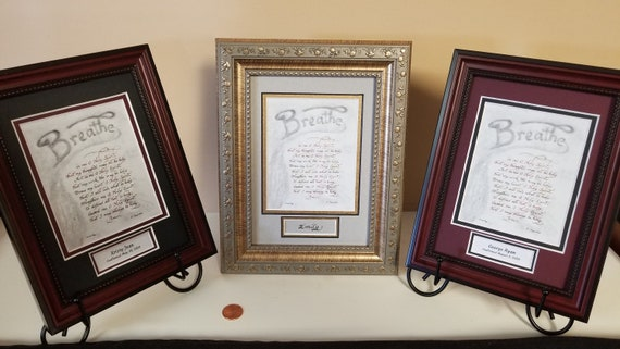 Breathe in me O Holy Spirit Prayer by St Augustine for Confirmation, RCIA, Hope and clergy framed and matted with option to personalize