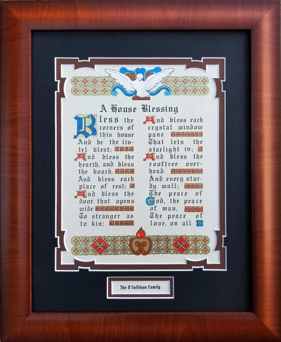 Irish Blessing Wall Hanging ~ Irish House Blessing Sign ~ Housewarming Gift for the Irish personalized gift