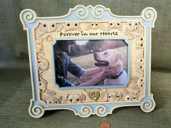 Sympathy Pet picture frame memorial Gift furry friends resin easel back gift