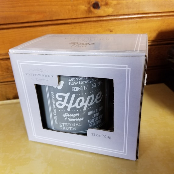 Hope Boxed Scripture Ceramic Inspirational Coffee Mug