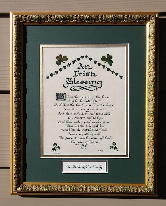 Nurses Prayer Personalizable Framed Green Matted Blessing