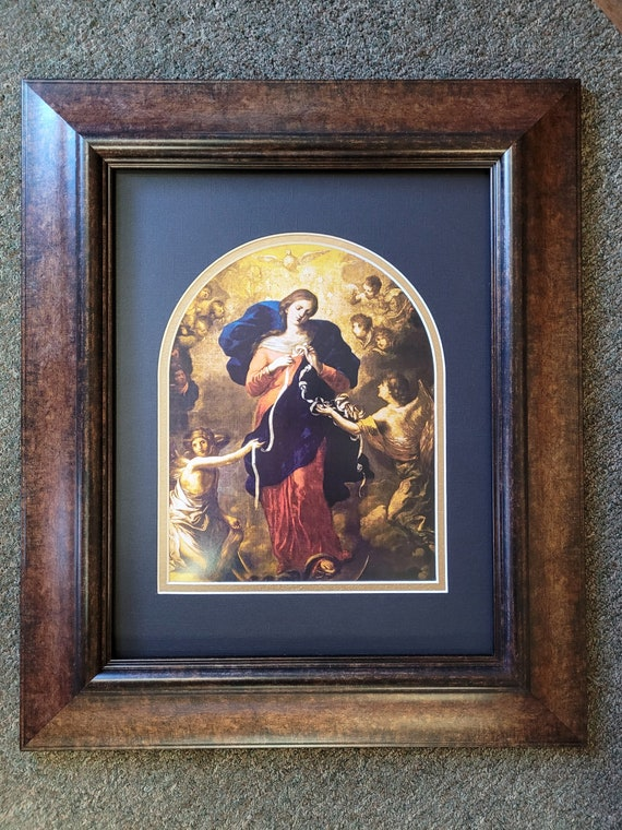 Mary un doer or un tier of knots beautiful print matted and framed
