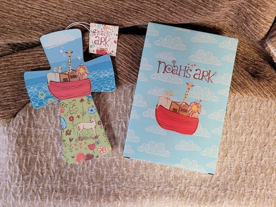 Noah's Ark children's wall cross for girl or boy