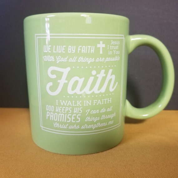Green Faith Ceramic Mug
