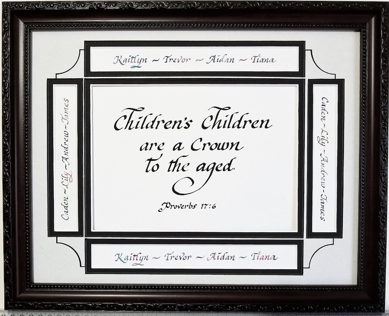 Children's Children are a Crown to the aged Proverbs 17 6 image 0