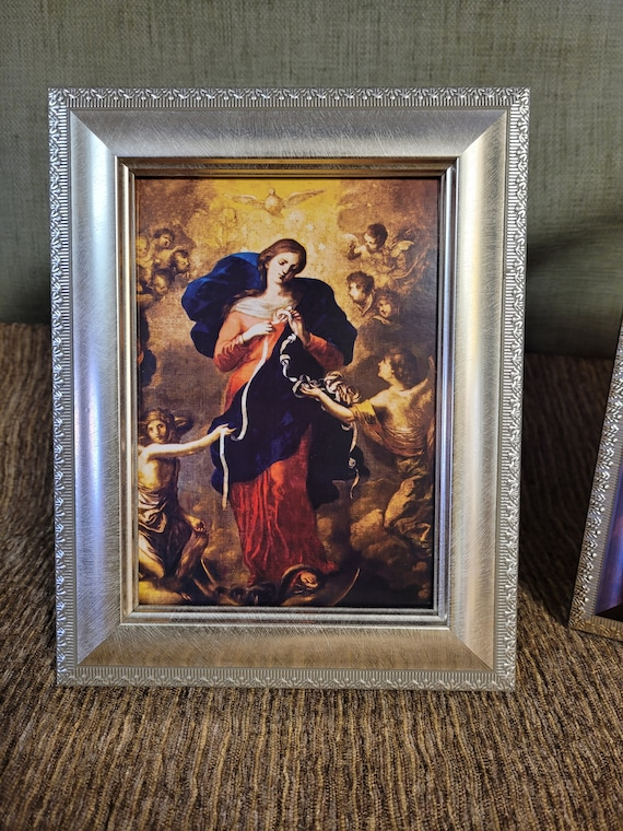 Mary un doer or untier of knots beautiful desktop print framed