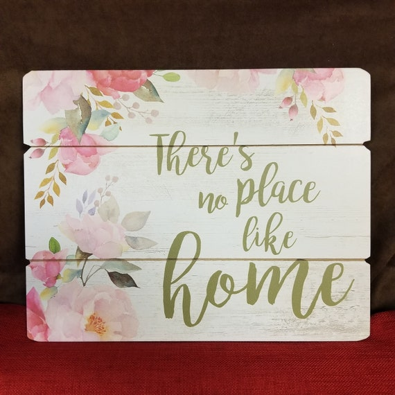 There's no place like home pallet wall sign colorful pallet sign gift for Mom Gift for Wedding