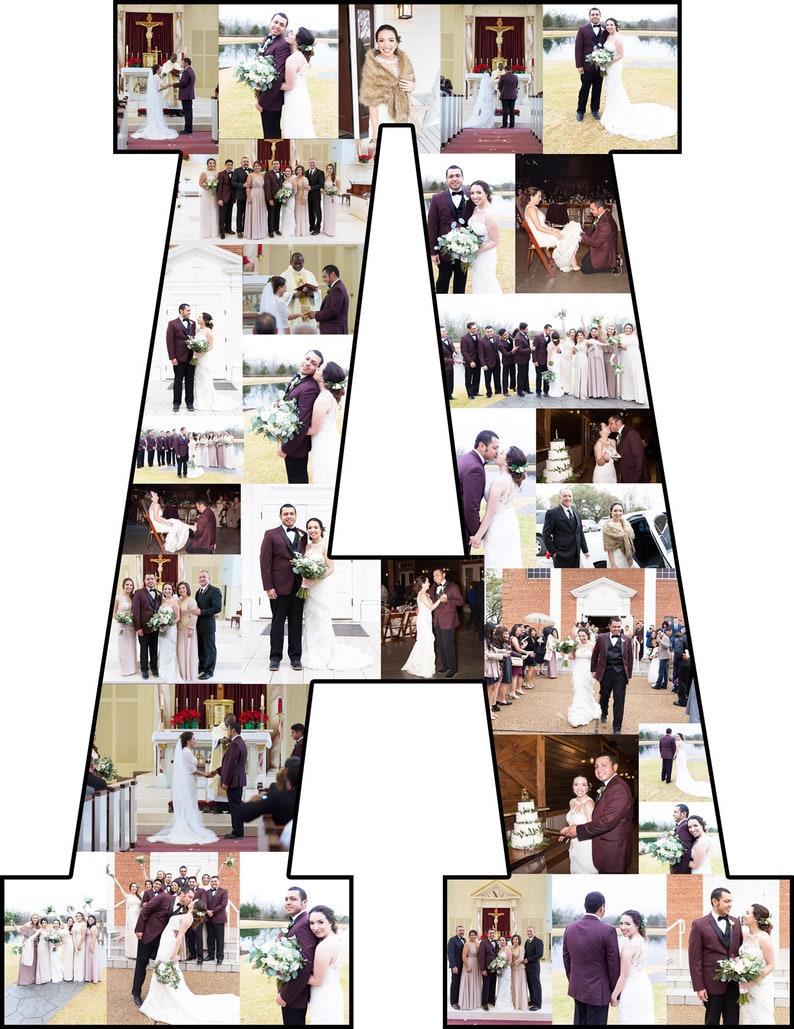 10 Zoll Foto Collage Buchstaben Und Individuelle Collage Bilderrahmen Macht Grosse Geschenke Fur Eine Individuelle Foto Anzeige Als Custom Holz