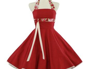 Red Polka dots rose black petticoat Lacing