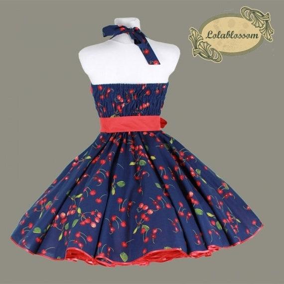 50s dress Z Petticoat Cherry Cherries