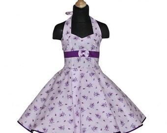 Paisley flower girl dress pink purple