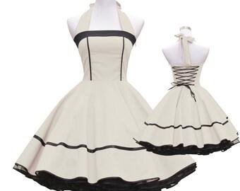 50s Dress Ecru Cream lacing measure #ucrs07