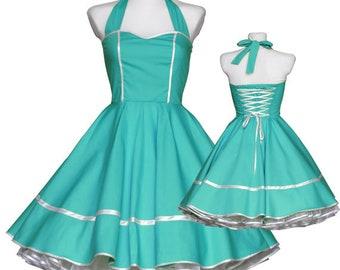 50s Dress Turquoise Blue Custom-made choice