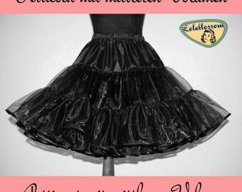 petticoat organdy black fulll volume