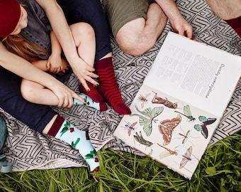 Beetroot Pattern Mismatched Kids Socks | Many Mornings