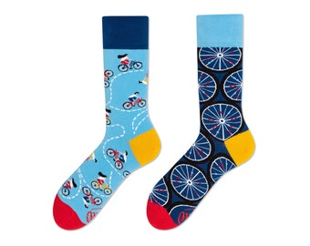 447fe3ccc8145 The Bicycles | men socks | colorful socks | cool socks | mismatched socks |  womens socks | unique socks | patterned socks | crazy socks