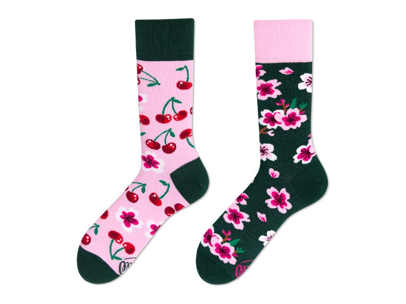 a96398b69 Cherry Blossom Socks men socks colorful socks mismatched | Etsy