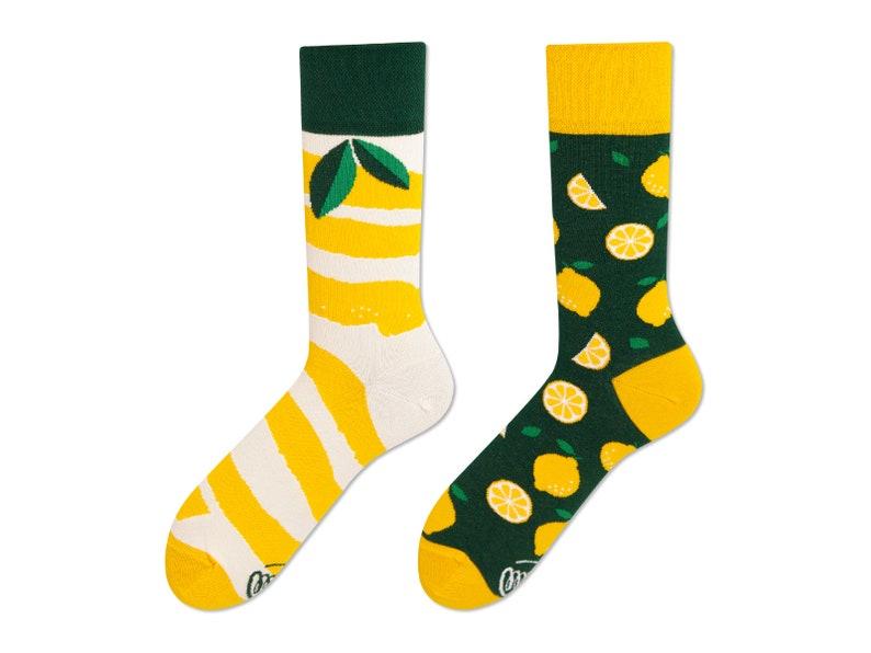 715c3c4943ca The Lemons men socks colorful socks cool socks   Etsy